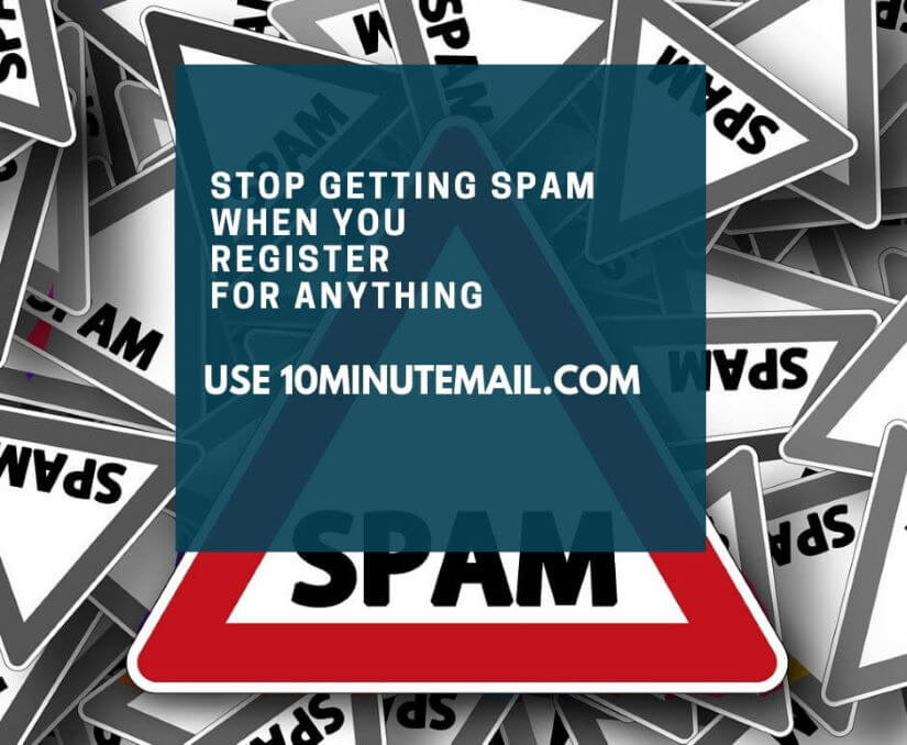 10minutemail – cool website to avoid spam